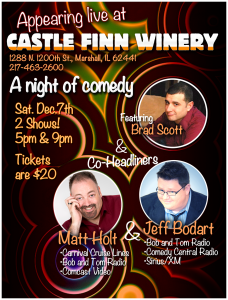 Dec 7th comedy night flyer
