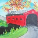 wine & canvas covered bridge