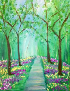 Spring Path Canvas Class for March 2016